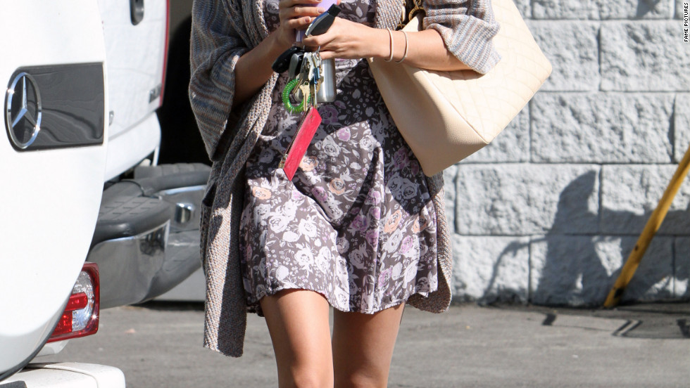 Ashley Tisdale goes to a studio in Burbank.