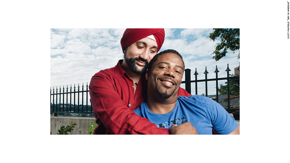 """Our cultural balance is ideal, to say the least. I'm East Indian, born in New Delhi, and always aim to strike a balance with the best of both Indian and American culture. I'm a Sikh, but more spiritual than religious. Paul is also very spiritual; we can pray to God together."" -- Harnik and Paul, Seattle, Washington<br /><br />The images are from ""Gay in America"" by Scott Pasfield, published by Welcome Books last year."