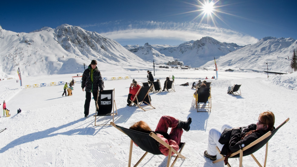 Tignes offers a slew of off-beat activities -- like ice-karting and bungee-trampoline -- that appeal to families.