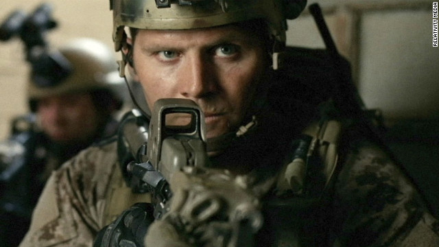 "A soldier takes aim in a scene from ""Act of Valor."""
