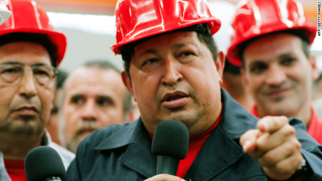 "Handout picture released by the Venezuelan presidency press office showing Venezuelan President Hugo Chavez (R) during an inspection at the Santa Ines agroindustrial complex, in Barinas, on February 21, 2012. Venezuelan President Hugo Chavez announced on Tuesday that in the coming days should be operated to remove a ""lesion"" in the same place where he was removed a cancerous tumor that was detected in 2011 during some tests in Cuba, but denied to have metastases. AFP PHOTO/PRESIDENCIA RESTRICTED TO EDITORIAL USE - MANDATORY CREDIT ""AFP PHOTO/PRESIDENCIA"" - NO MARKETING NO ADVERTISING CAMPAIGNS - DISTRIBUTED AS A SERVICE TO CLIENTS (Photo credit should read PRESIDENCIA/AFP/Getty Images)"