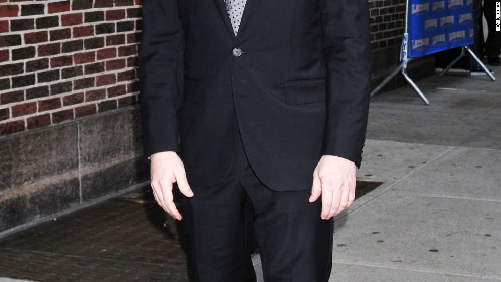 "Matthew Broderick visits ""The Late Show with David Letterman"" in New York City."