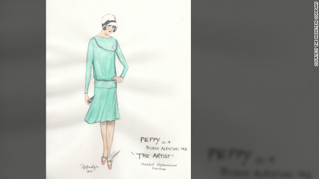 "Mark Bridges' designs for ""The Artist"" included this dress worn by Peppy Miller (Berenice Bejo)."