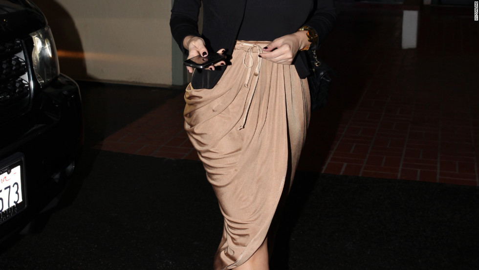 Kim Kardashian goes to the nail salon in Beverly Hills.