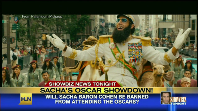 Sacha Baron Cohen's red carpet showdown
