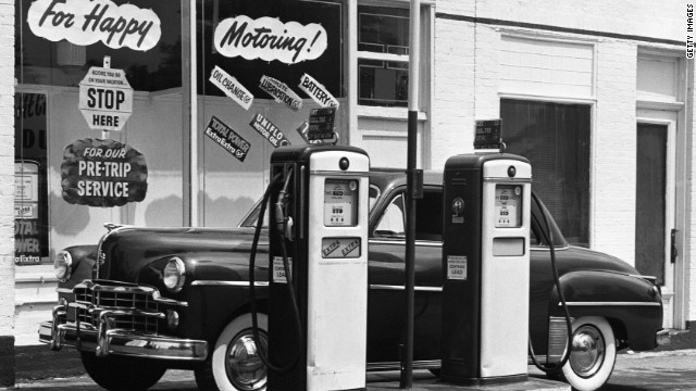 A gallon of gasoline cost around 27 cents in 1950.