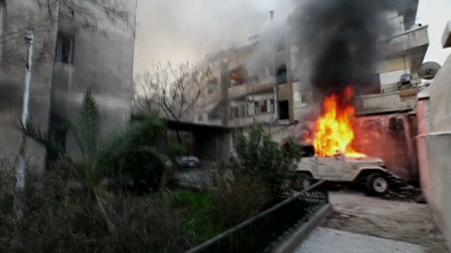 Filmmaker on 'battleground' in Homs