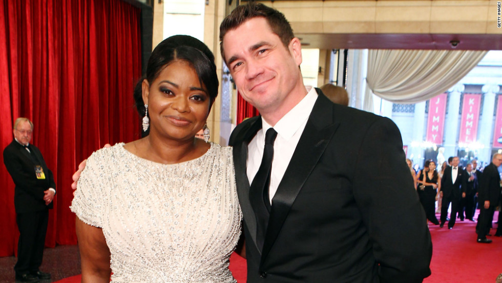 "Octavia Spencer, who won best supporting actress, attended the event with her longtime friend, Tate Taylor, who wrote and directed ""The Help."""