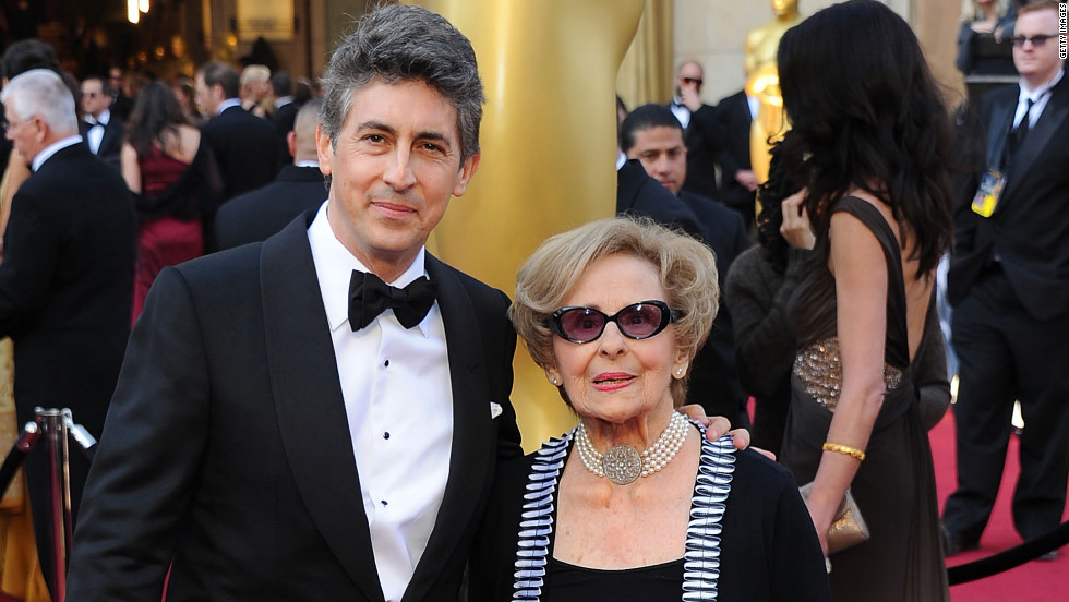 """The Descendants'"" Alexander Payne, who won an Oscar for best adapted screenplay, brought his mom, Peggy Payne to the show. He acknowledged her in his acceptance speech, saying, ""Thanks for letting me skip nursery school so we could go to the movies."""