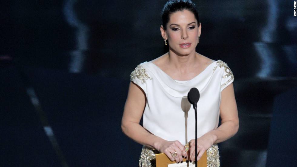 In her not-so-native tongue, Sandra Bullock presented the award for best foreign language film. Because there were 1.2 billion people watching in China, she said, the academy asked that she present the award in Mandarin. However, she added, because her mother spoke German when she was growing up, her Chinese is infused with a slight German accent.