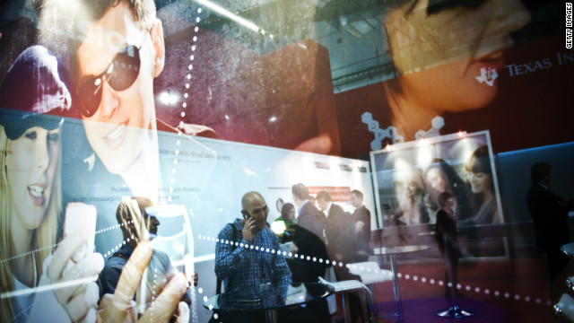 Visitors at the first day of the Mobile World Congress on February 27 2012 in Barcelona, Spain.