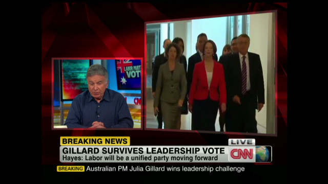 Gillard survives 2012 challenge