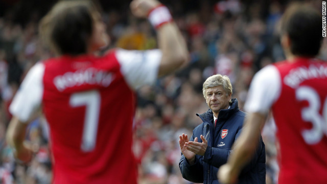 Under pressure Arsene Wenger gave himself some breathing space after Arsenal beat local rivals 5-2 on Sunday