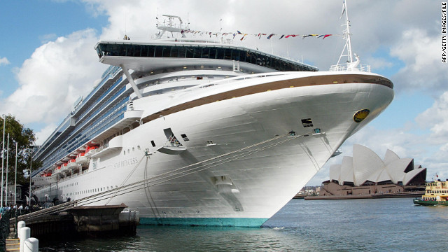 The Star Princess, pictured in 2003, was one of two cruise liners denied entry to a port in Argentina on Monday.