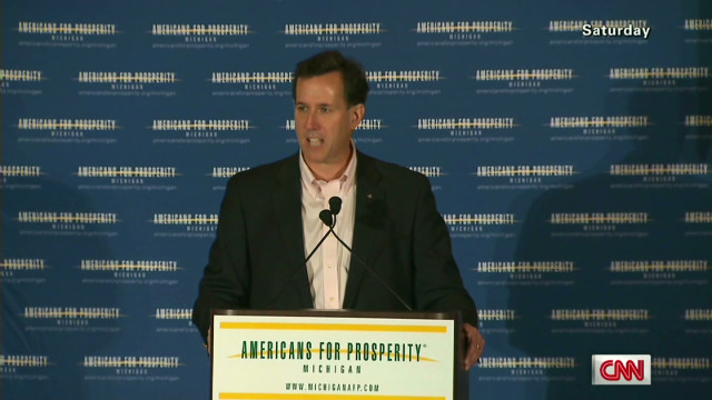 Santorum's college and religion claims