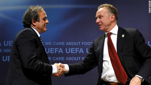UEFA president Michel Platini (left) and ECA chairman Karl-Heinz Rummenigge have reached an agreement.