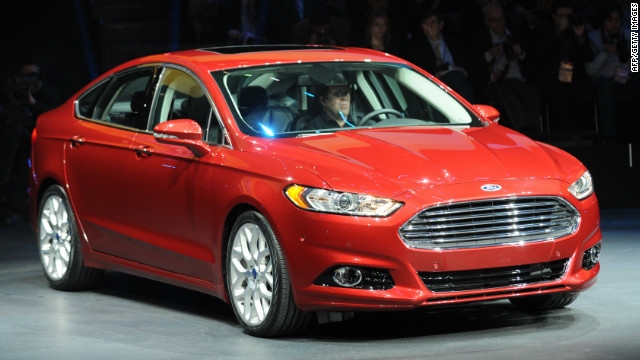 The unveiling the 2013 Ford Fusion at the 2012 North American International Auto Show January 9, 2012 in Detroit.