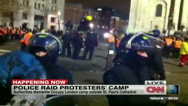 Occupy London site cleared