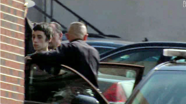Ohio school shooting suspect TJ Lane walks into court on February 28, 2012. This picture is approved for use by WEWS.