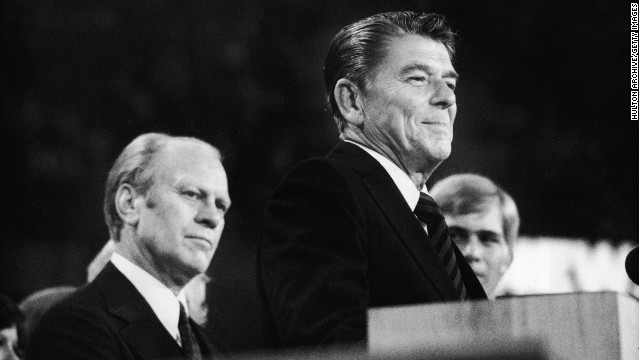 Ronald Reagan lost the 1976 GOP nomination to Gerald Ford, but landed the final speaking slot .