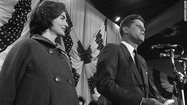 JFK campaigns for president with Jackie in 1960 when, Michael Wolraich says, evangelicals feared he was the pope's agent.
