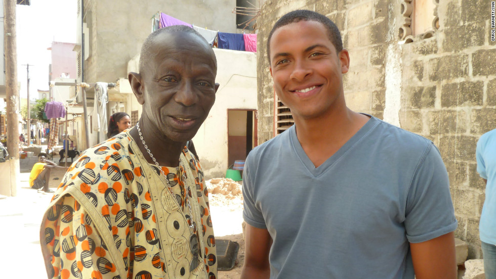 Doudou N'Diaye Rose with CNN's Errol Barnett.