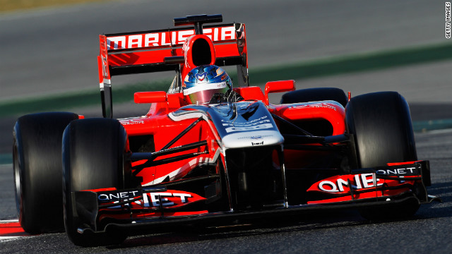 Marussia's drivers have only been able to test their 2011 car as a result of not passing the necessary crash tests.