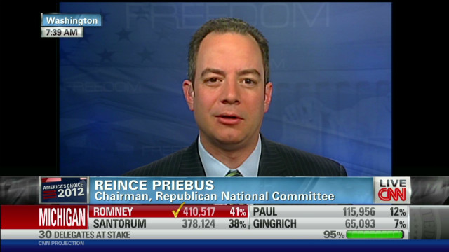 RNC chairman discusses Romney wins