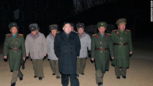 "This undated handout picture released from North Korea's official Korean Central News Agency on February 9, 2012 shows North Korean leader Kim Jong Un (C) inspecting  the Command of Large Combined Unit 324 of the Korean People's Army at undisclosed place in North Korea.   AFP PHOTO / KCNA via KNS   ---EDITORS NOTE--- RESTRICTED TO EDITORIAL USE - MANDATORY CREDIT ""AFP PHOTO / KCNA VIA KNS"" - NO MARKETING NO ADVERTISING CAMPAIGNS - DISTRIBUTED AS A SERVICE TO CLIENTS (Photo credit should read KNS/AFP/Getty Images)"