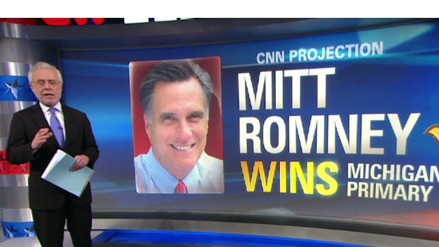 CNN projects Romney wins Michigan
