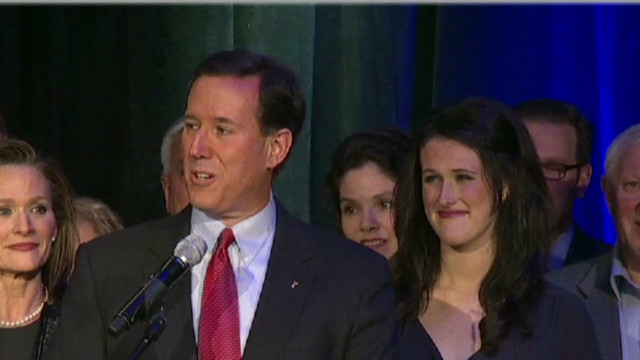Santorum praises women in remarks