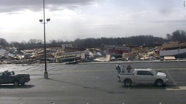 Tornado rips through Harrisburg, Illinois