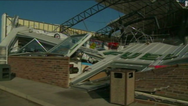 Storm damage in Missouri town