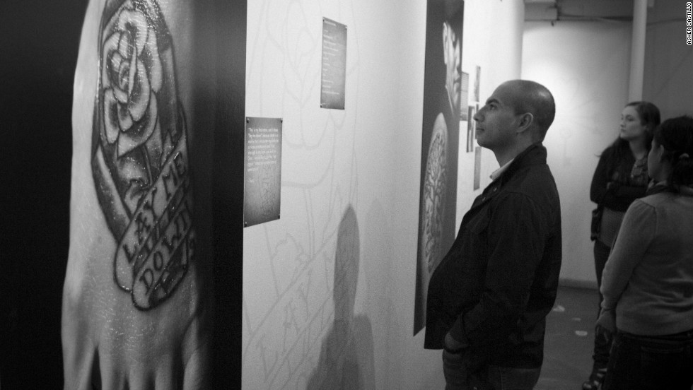 The Ecclesia exhibit brought people from across the Houston area to admire the religious body art.