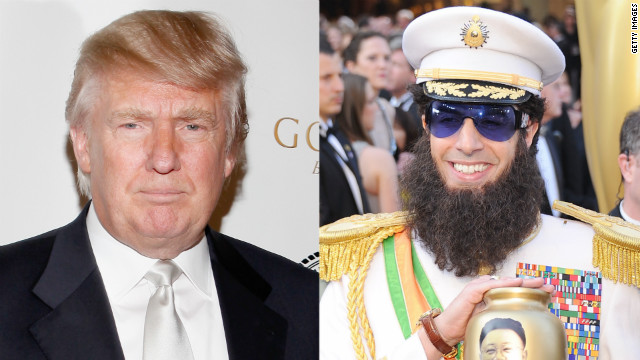 Donald Trump explains his video rant against Sasha Baron Cohen.
