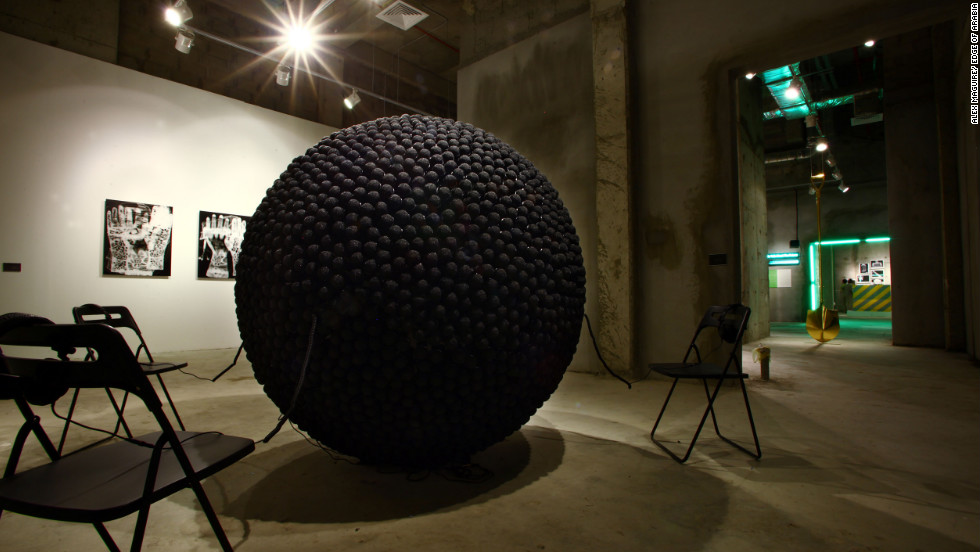 The installation features 3,600 microphones. Angawi hopes to place them around the streets of Jeddah for a year to pick up what people are saying.