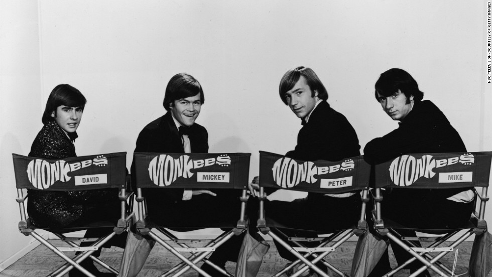 The Monkees pose for an early 1970s promotional portrait.