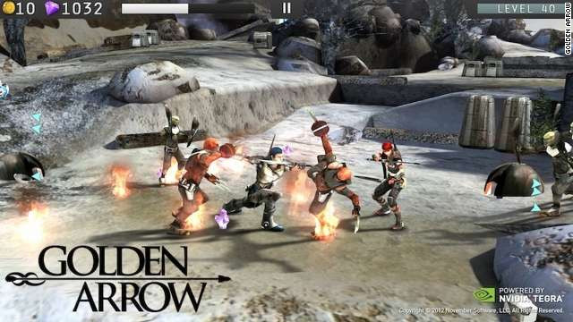 """Golden Arrow THD"" is an example of a mobile game with high-quality special effects."