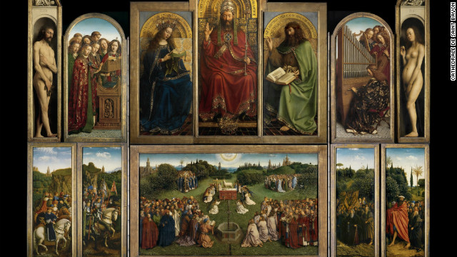 The Ghent Altarpiece Open, Overview of the open altarpiece,Completed 1432