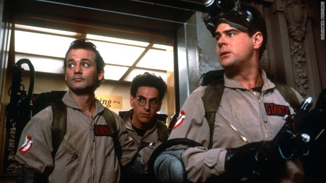 "Bill Murray, Harold Ramis and  Dan Aykroyd, starred in the film ""Ghostbusters."""