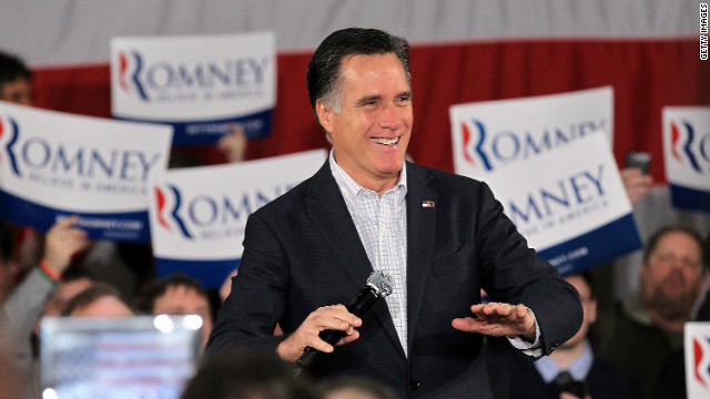 Former Massachusetts governor Mitt Romney won the Washington state caucuses on Saturday as he heads into the pivotal Super Tuesday contests.