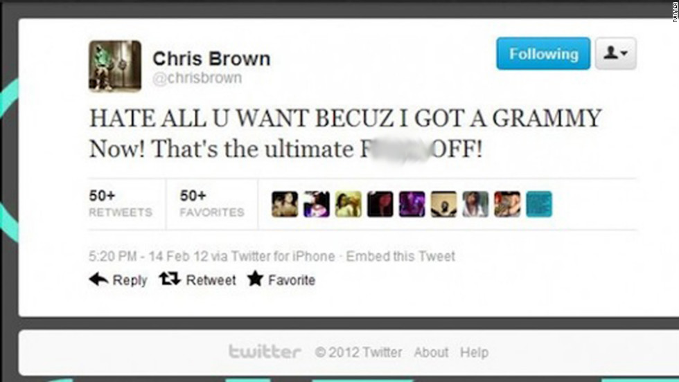 If you say dumb things on Twitter, people will notice. And they will mock you. A lot. This gracious tweet from singer Chris Brown was just one of many shining examples from 2012.