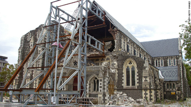 Officials say the 131-year-old Christchurch Cathedral will have to be demolished.