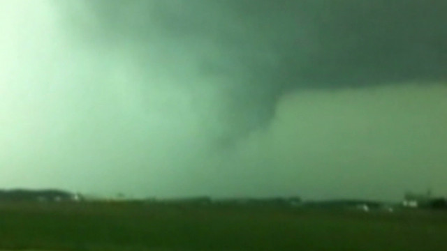Possible funnel cloud captured on camera