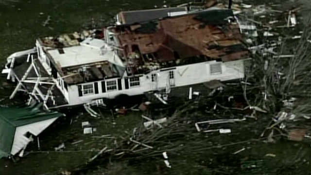 Tornado flattens buildings in Indiana