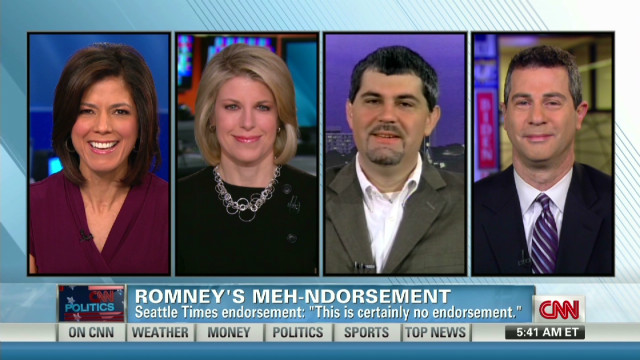 Lukewarm endorsements for Romney