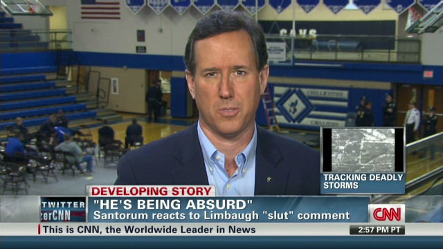 Santorum: Limbaugh comments 'absurd'