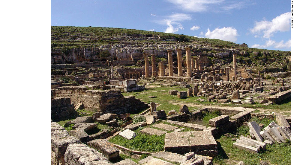 The ruins of Cyrene have been a famous archaeological site since the 18th century but the site's decline began around 365 A.D. with a massive earthquake and tidal wave.