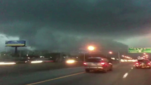 Funnel cloud seen from Chattanooga road