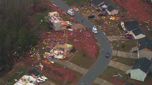 Homes torn apart, no one hurt in Georgia
